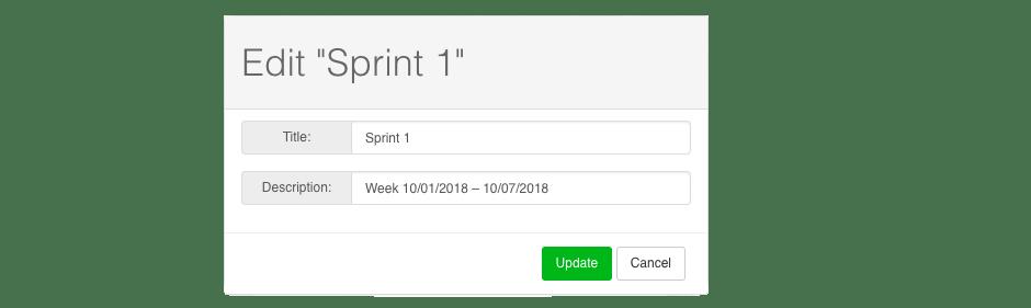 Sprint settings